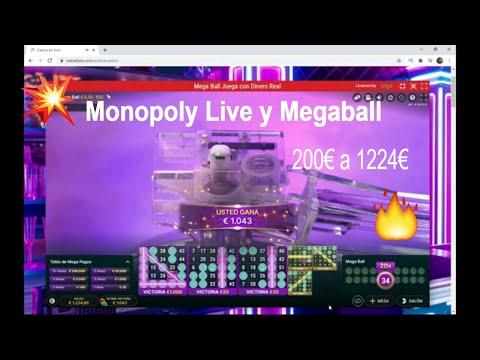 👀 Monopoly Live and Megaball in Betrebels online casino / 200€ a 1224€ 💎💎💎